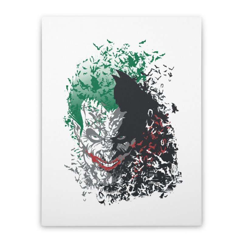 Arkham Bats Home Stretched Canvas by Ricomambo