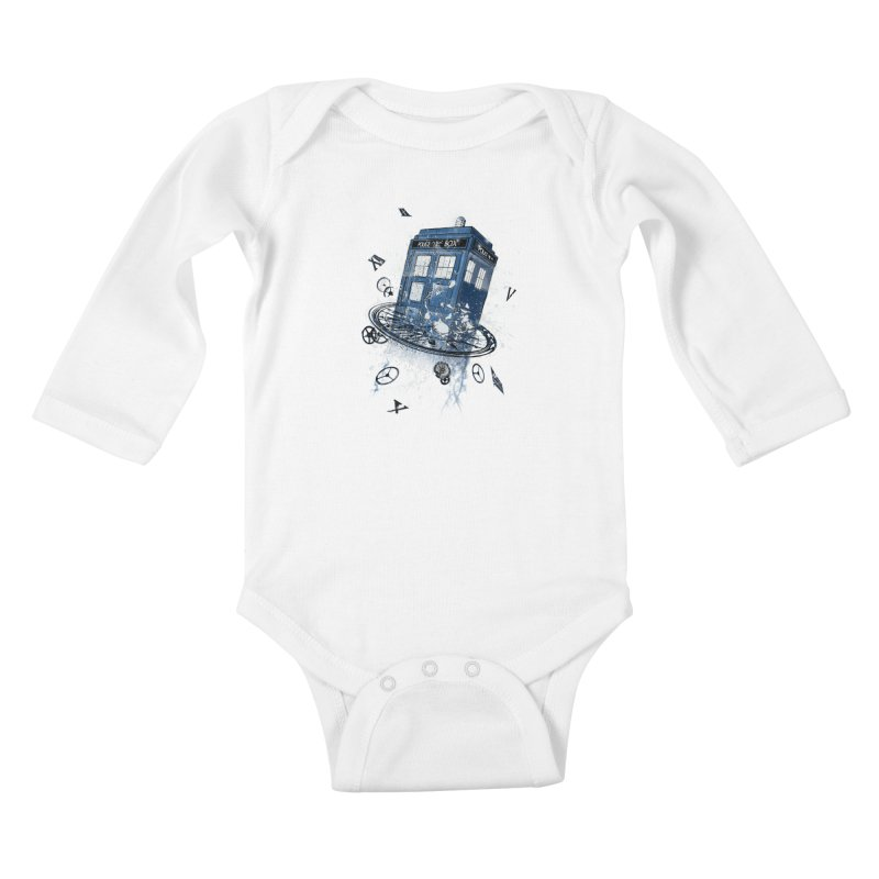 Breaking the Time Kids Baby Longsleeve Bodysuit by Ricomambo