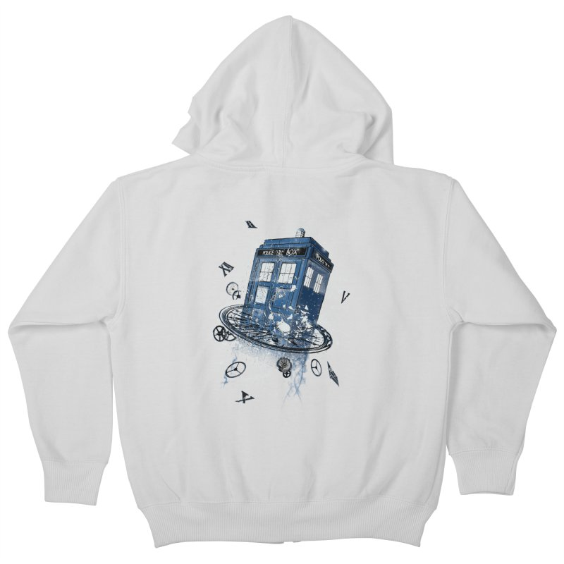 Breaking the Time Kids Zip-Up Hoody by Ricomambo