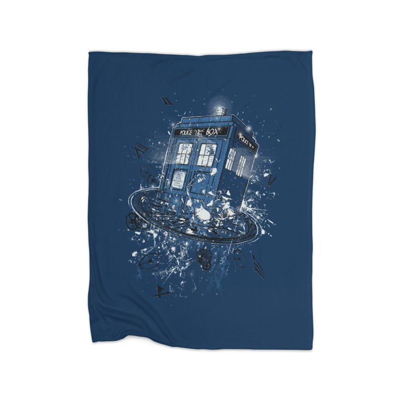 Breaking the Time Home Fleece Blanket by Ricomambo