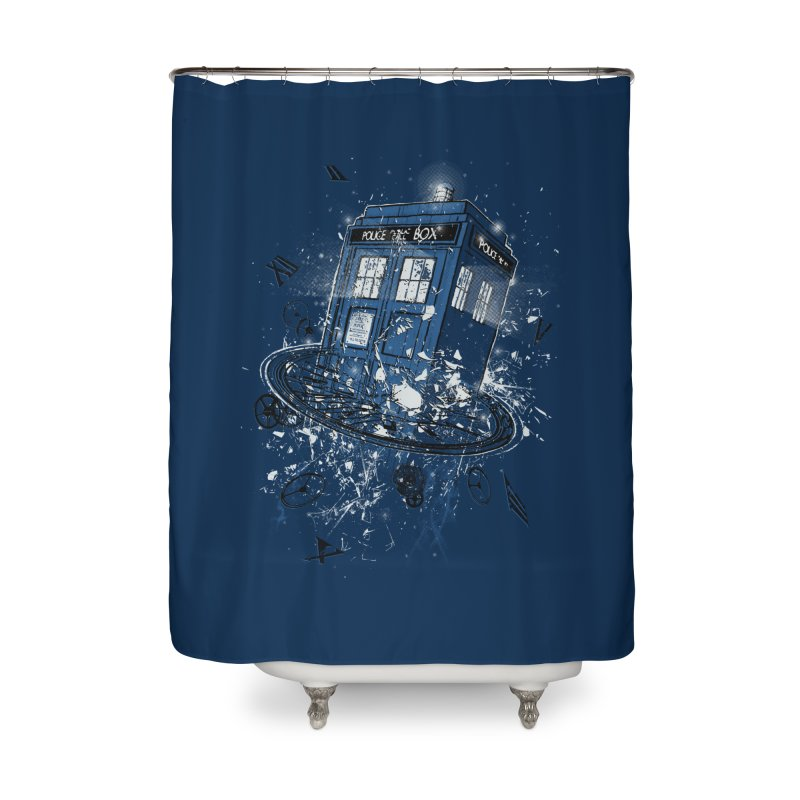 Breaking the Time Home Shower Curtain by Ricomambo