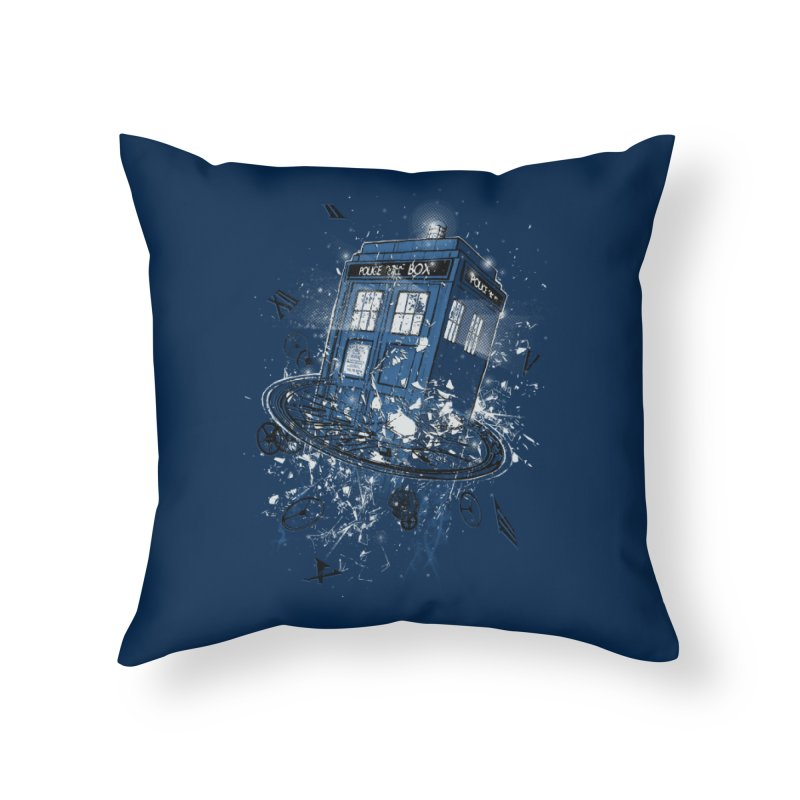 Breaking the Time Home Throw Pillow by Ricomambo