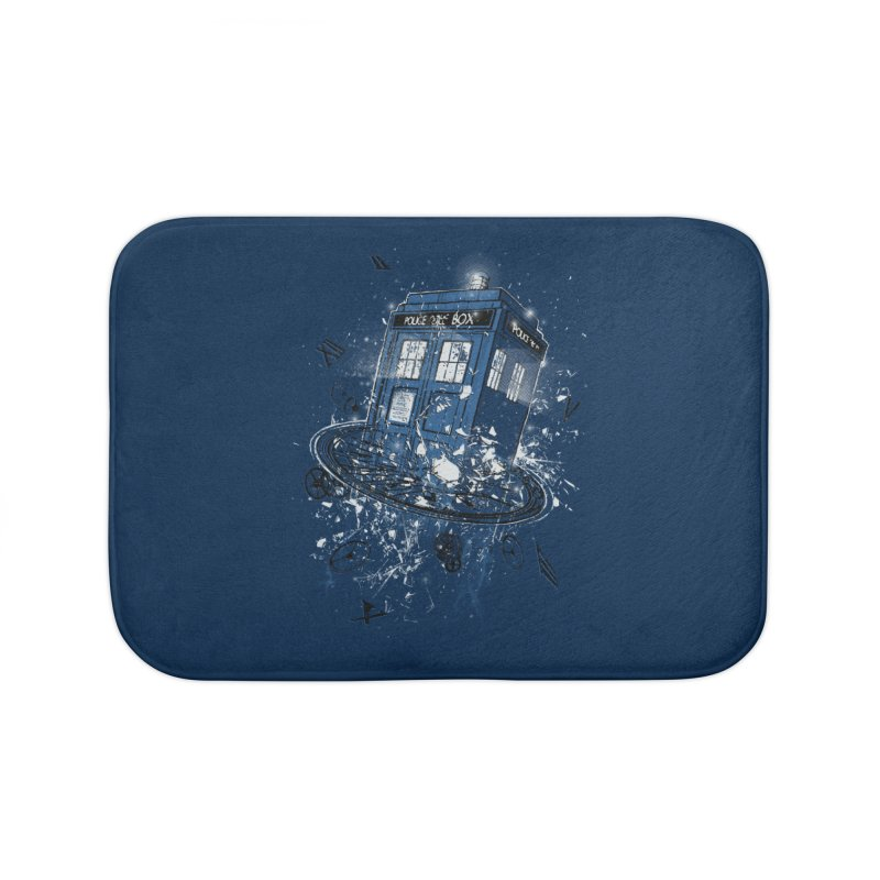 Breaking the Time Home Bath Mat by Ricomambo