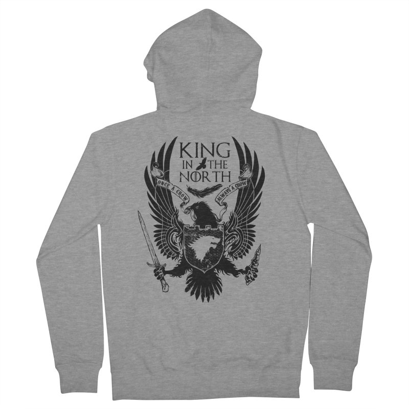 King in the North Women's Zip-Up Hoody by Ricomambo
