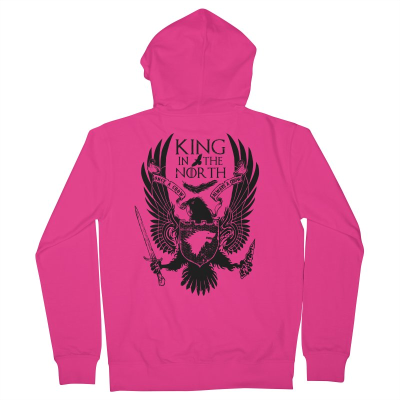 King in the North Men's Zip-Up Hoody by Ricomambo