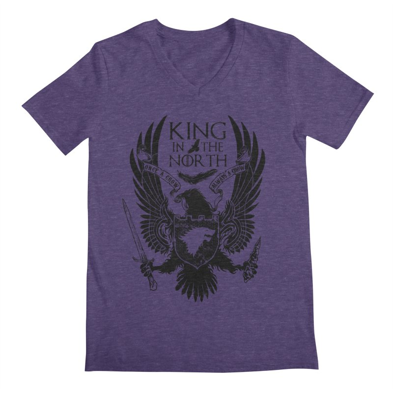 King in the North Men's V-Neck by Ricomambo