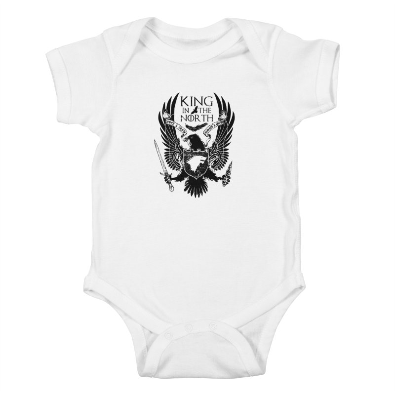 King in the North Kids Baby Bodysuit by Ricomambo
