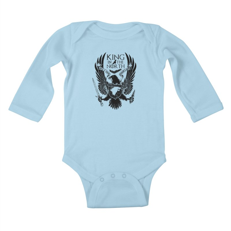 King in the North Kids Baby Longsleeve Bodysuit by Ricomambo