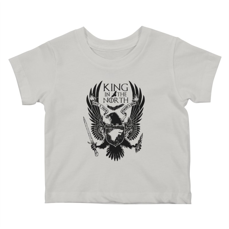 King in the North Kids Baby T-Shirt by Ricomambo