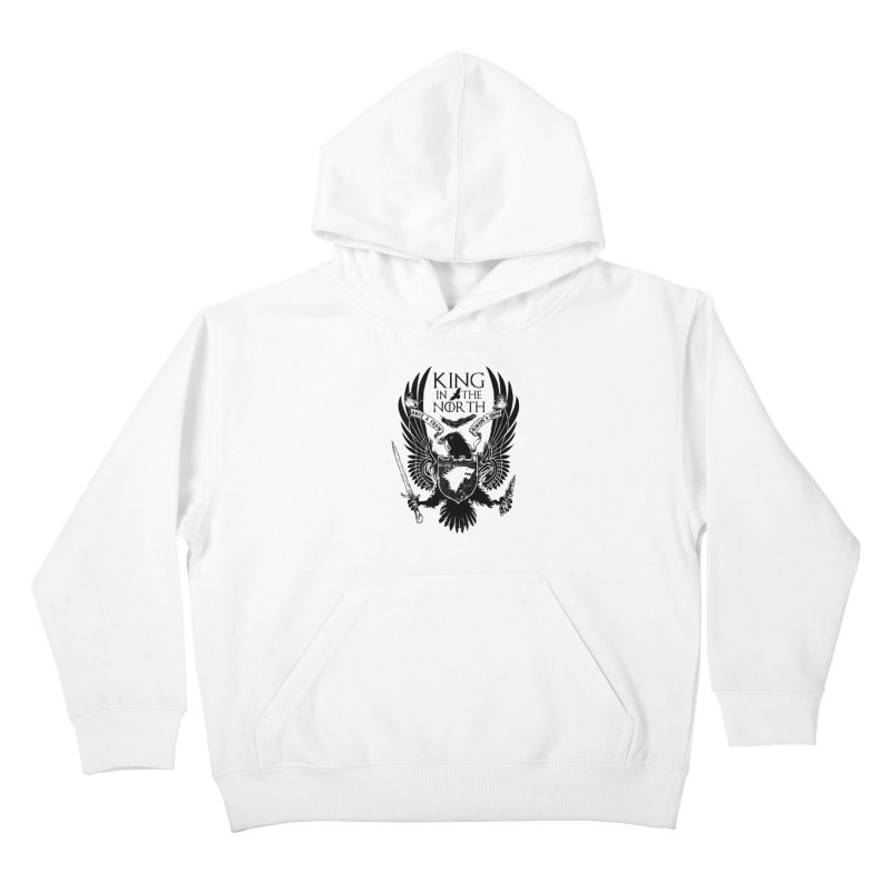 King in the North Kids Pullover Hoody by Ricomambo