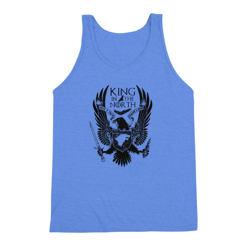 King in the North Men's Triblend Tank by Ricomambo