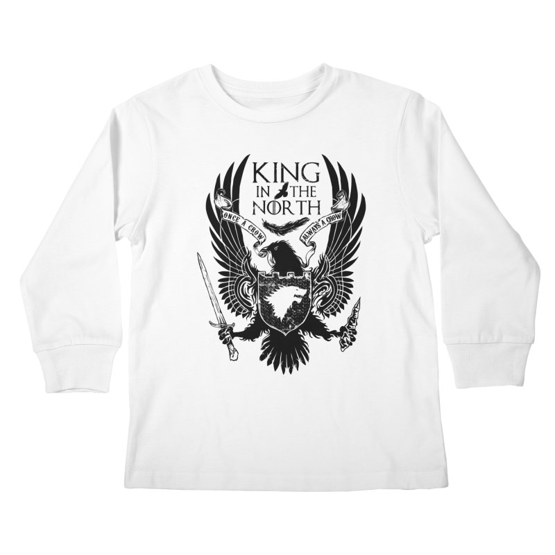 King in the North Kids Longsleeve T-Shirt by Ricomambo