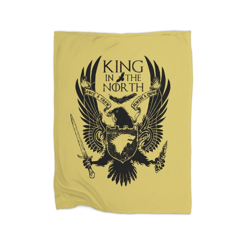 King in the North Home Fleece Blanket by Ricomambo