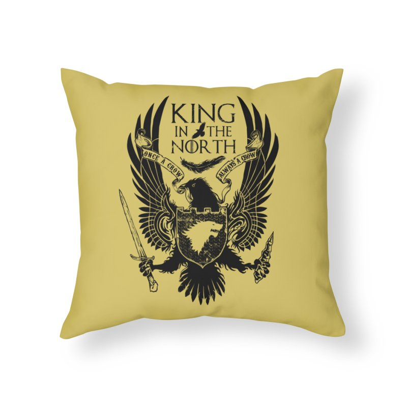 King in the North Home Throw Pillow by Ricomambo