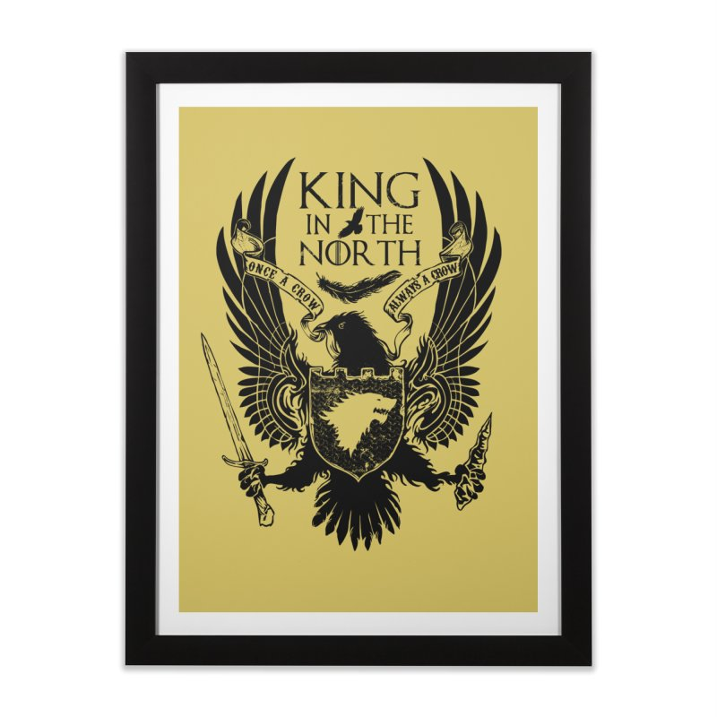 King in the North Home Framed Fine Art Print by Ricomambo