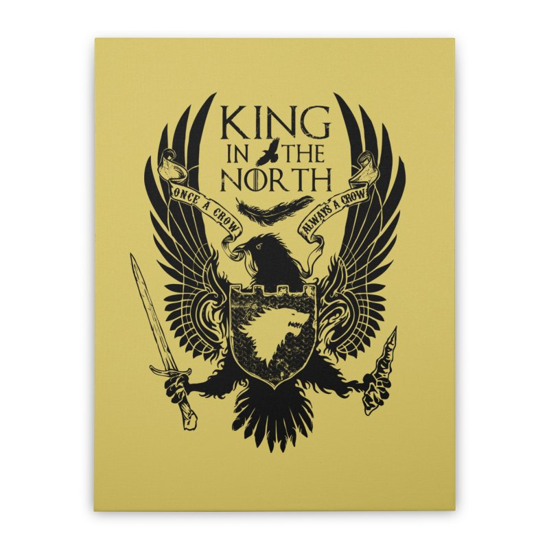 King in the North Home Stretched Canvas by Ricomambo