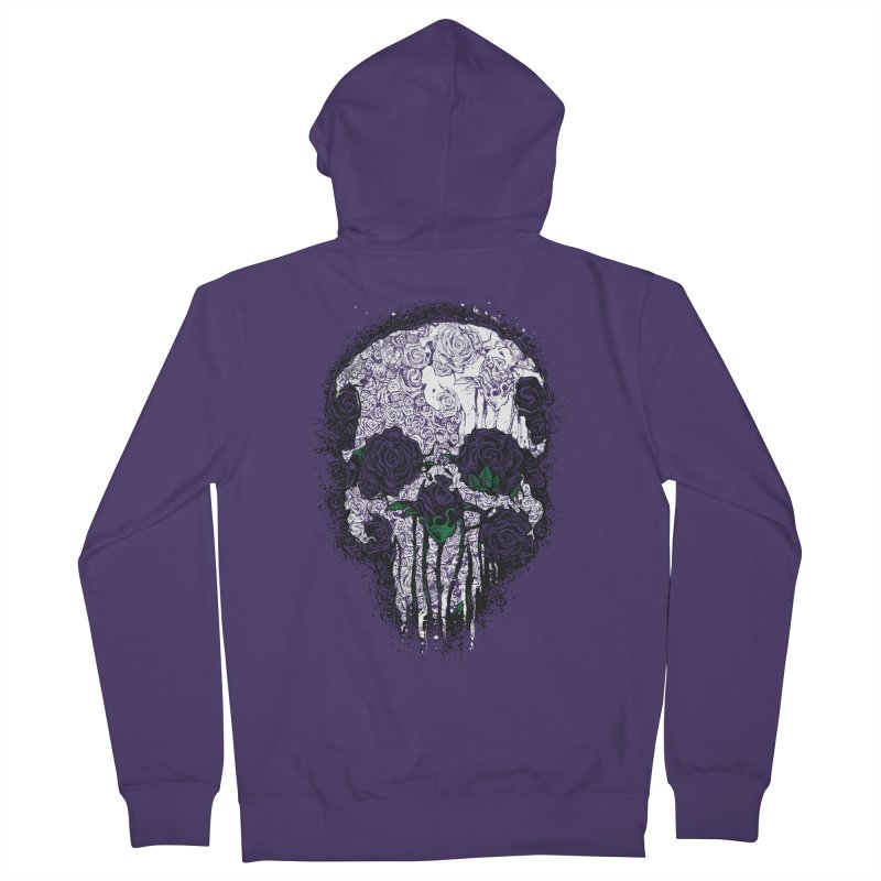 Skull Roses Women's Zip-Up Hoody by Ricomambo