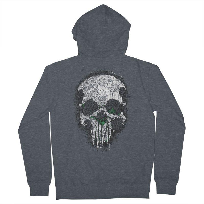 Skull Roses Men's Zip-Up Hoody by Ricomambo