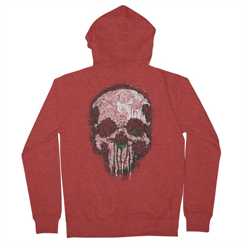Skull Roses Men's Zip-Up Hoody by Ricomambo