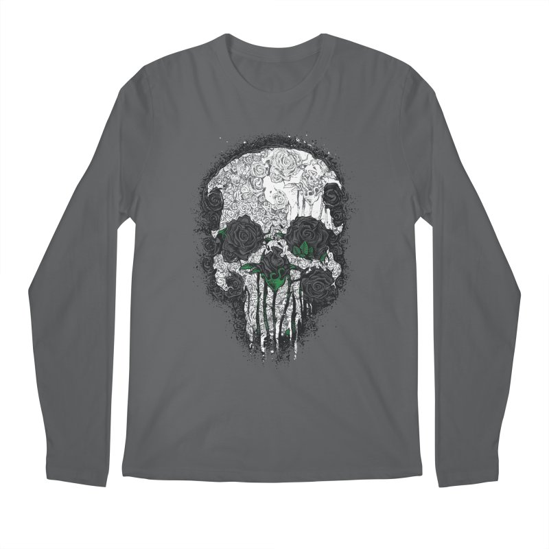 Skull Roses Men's Longsleeve T-Shirt by Ricomambo