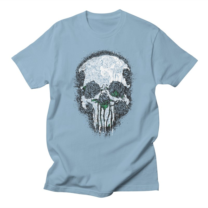 Skull Roses Men's T-Shirt by Ricomambo