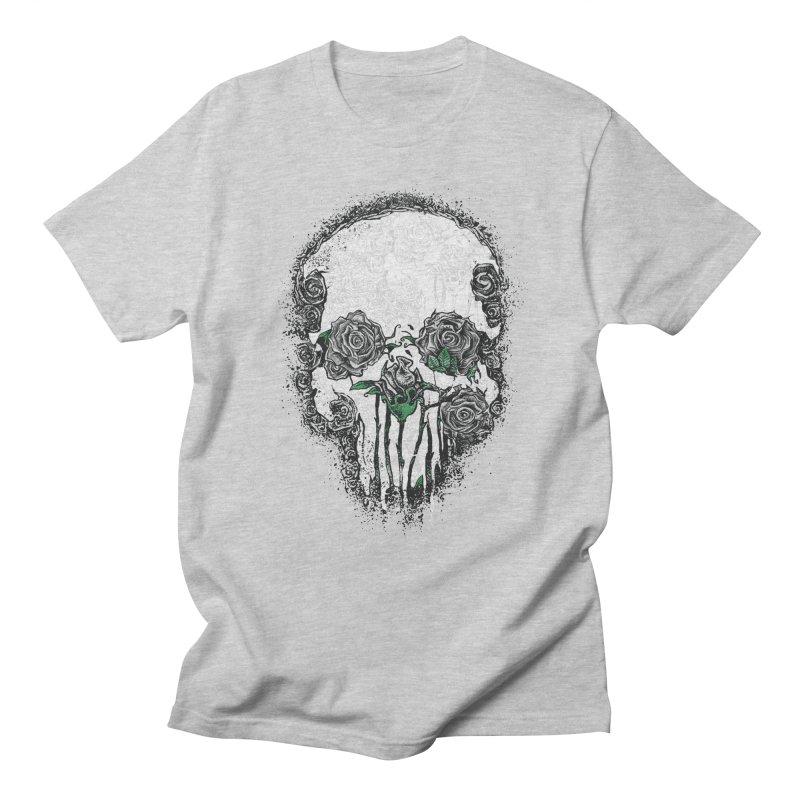 Skull Roses Men's T-Shirt by Ricomambo