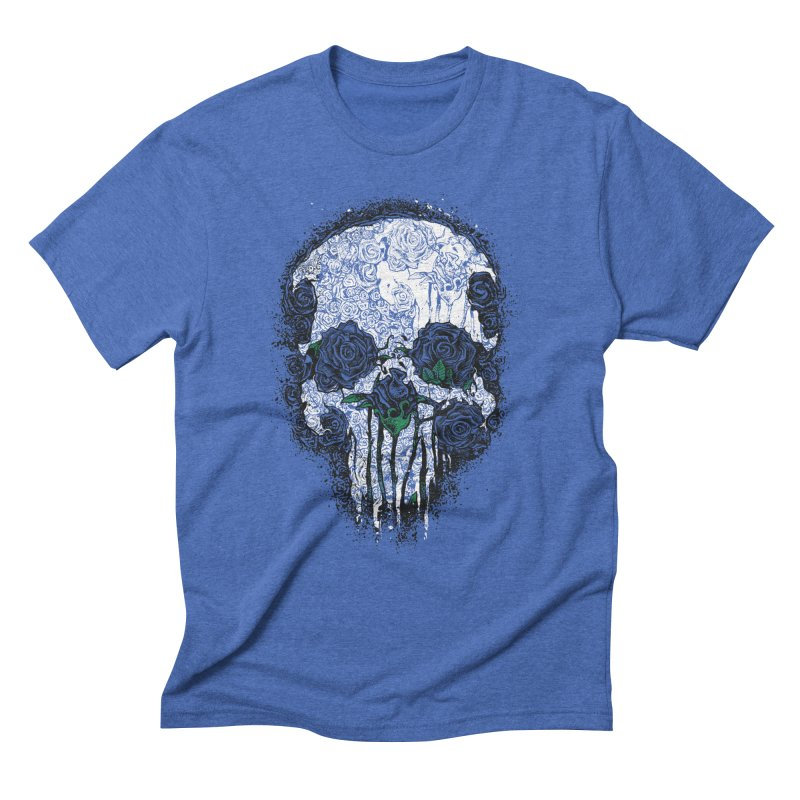 Skull Roses Men's Triblend T-shirt by Ricomambo