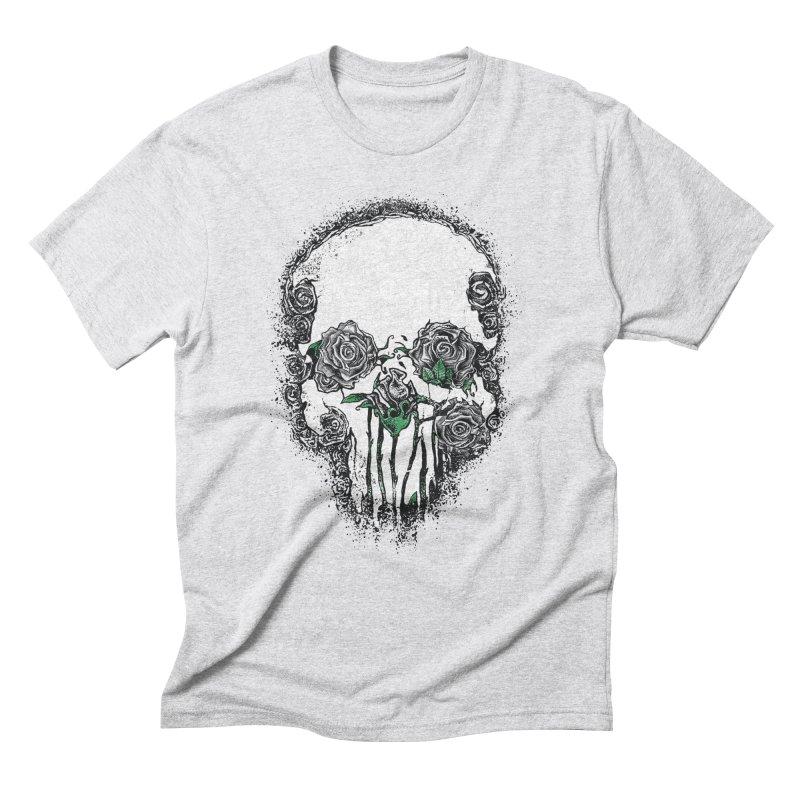 Skull Roses Men's Triblend T-Shirt by Ricomambo