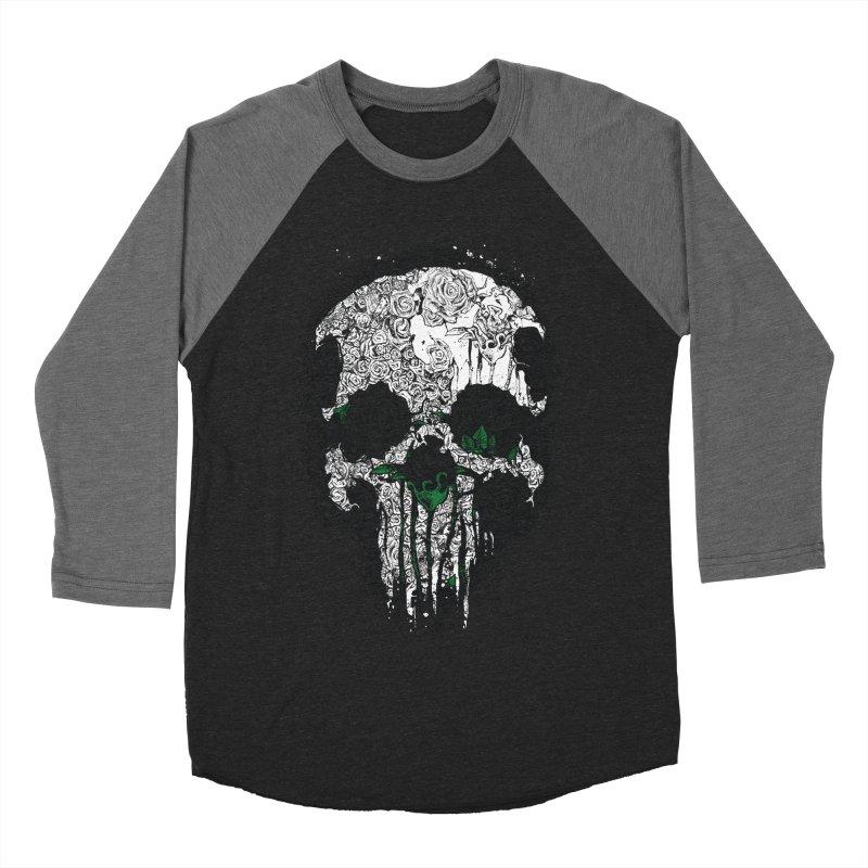 Skull Roses Men's Baseball Triblend T-Shirt by Ricomambo