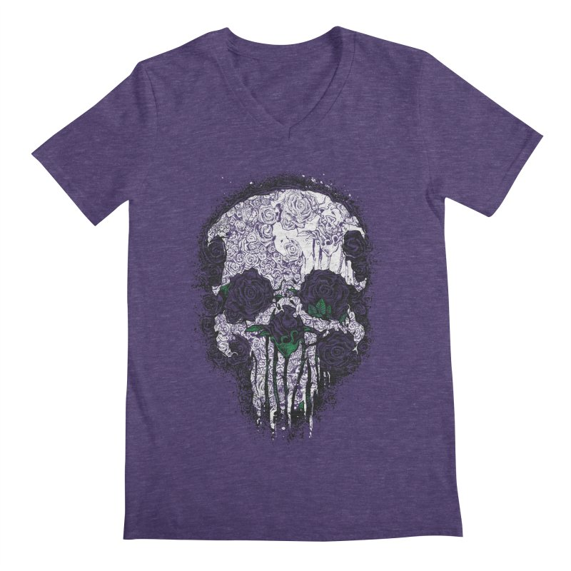 Skull Roses Men's V-Neck by Ricomambo