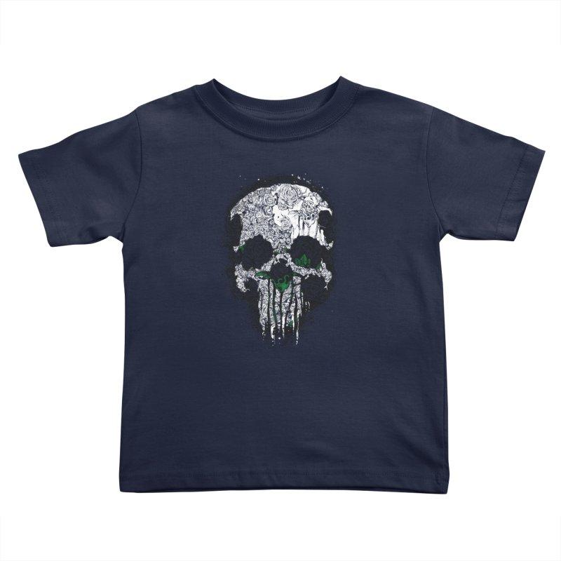 Skull Roses Kids Toddler T-Shirt by Ricomambo