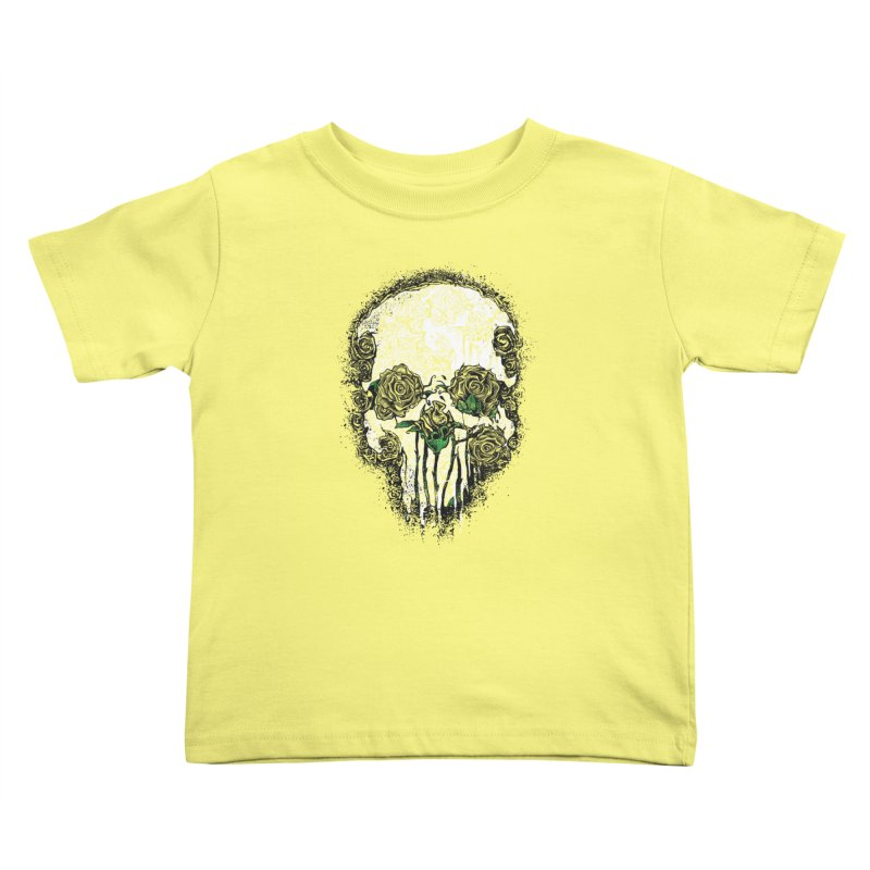 Skull Roses Kids Toddler T-Shirt by Ricomambo