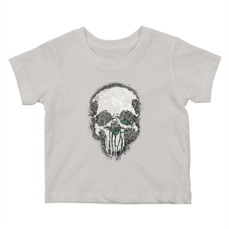 Skull Roses Kids Baby T-Shirt by Ricomambo