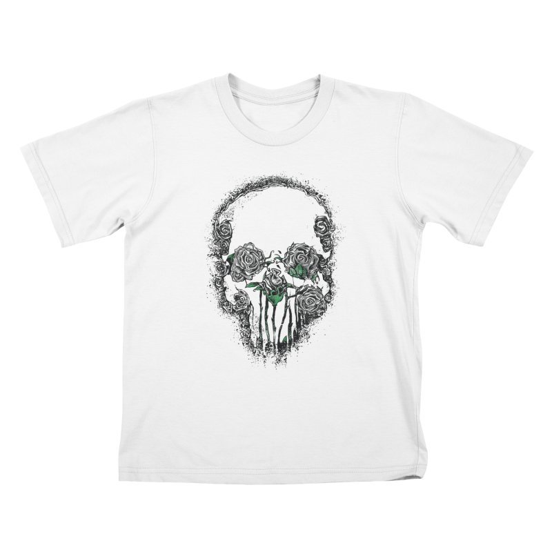 Skull Roses Kids T-Shirt by Ricomambo