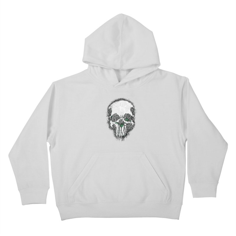 Skull Roses Kids Pullover Hoody by Ricomambo