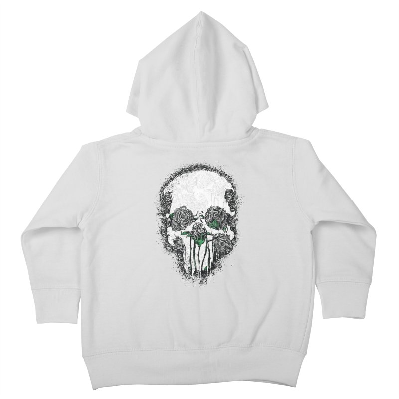 Skull Roses Kids Toddler Zip-Up Hoody by Ricomambo
