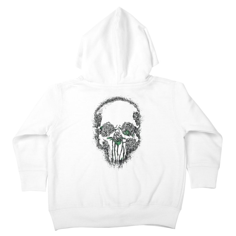 Skull Roses Kids Toddler Zip-Up Hoody by Ricomambo