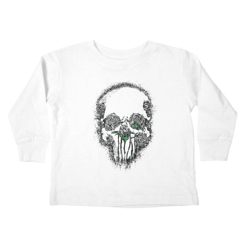 Skull Roses Kids Toddler Longsleeve T-Shirt by Ricomambo