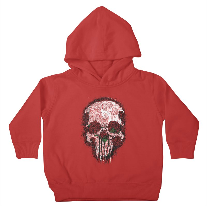 Skull Roses Kids Toddler Pullover Hoody by Ricomambo