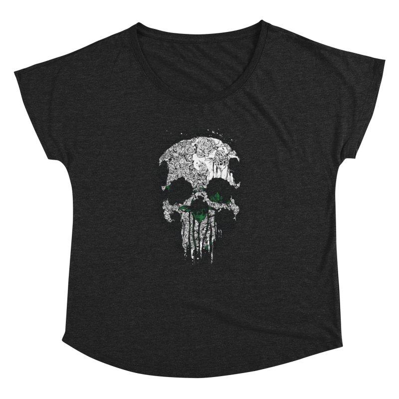 Skull Roses Women's Dolman by Ricomambo