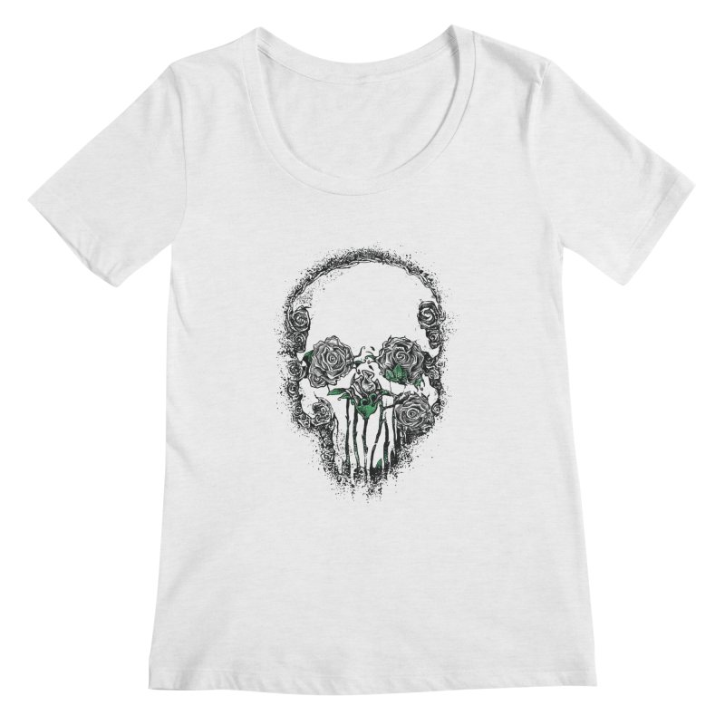 Skull Roses Women's Scoopneck by Ricomambo