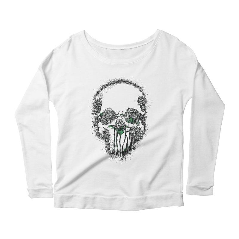 Skull Roses Women's Longsleeve Scoopneck  by Ricomambo