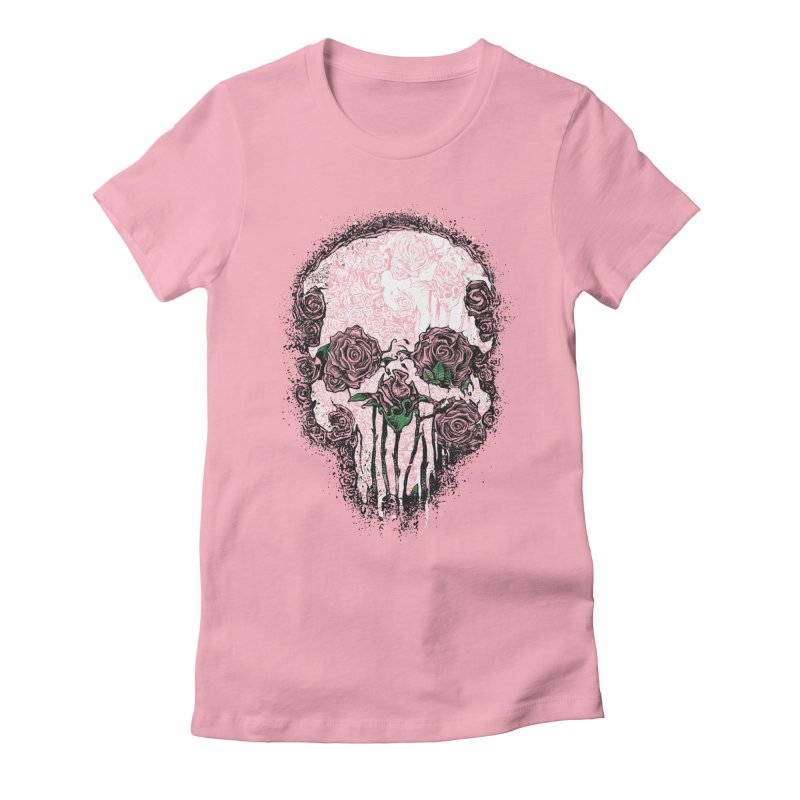 Skull Roses Women's Fitted T-Shirt by Ricomambo