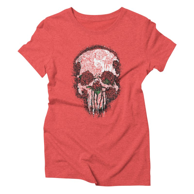 Skull Roses Women's Triblend T-Shirt by Ricomambo