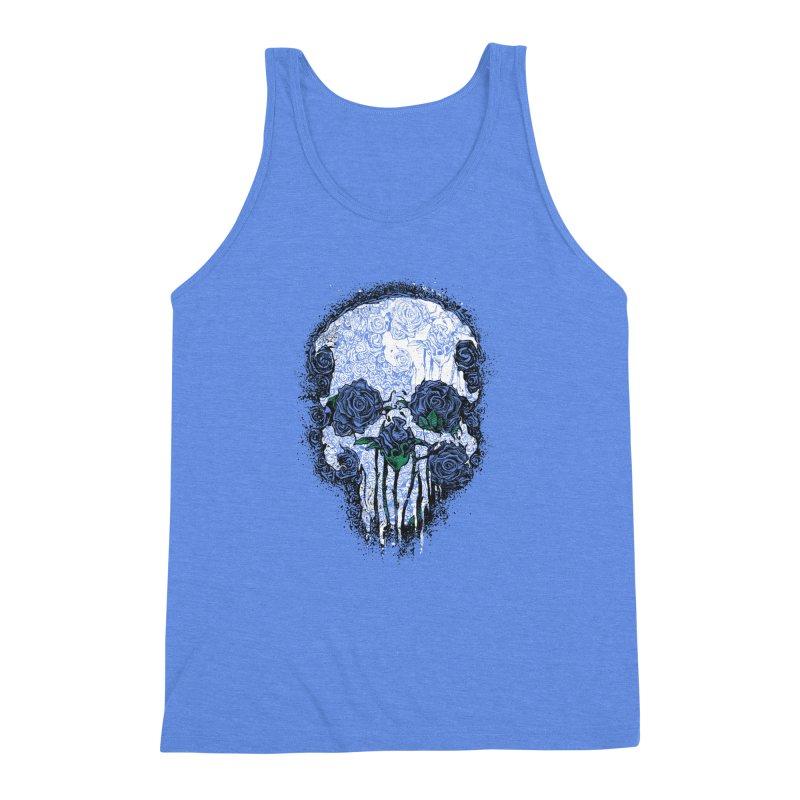 Skull Roses Men's Triblend Tank by Ricomambo