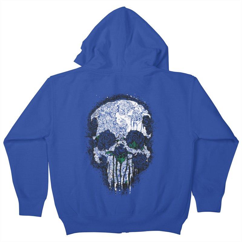 Skull Roses Kids Zip-Up Hoody by Ricomambo