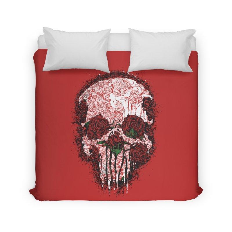 Skull Roses Home Duvet by Ricomambo