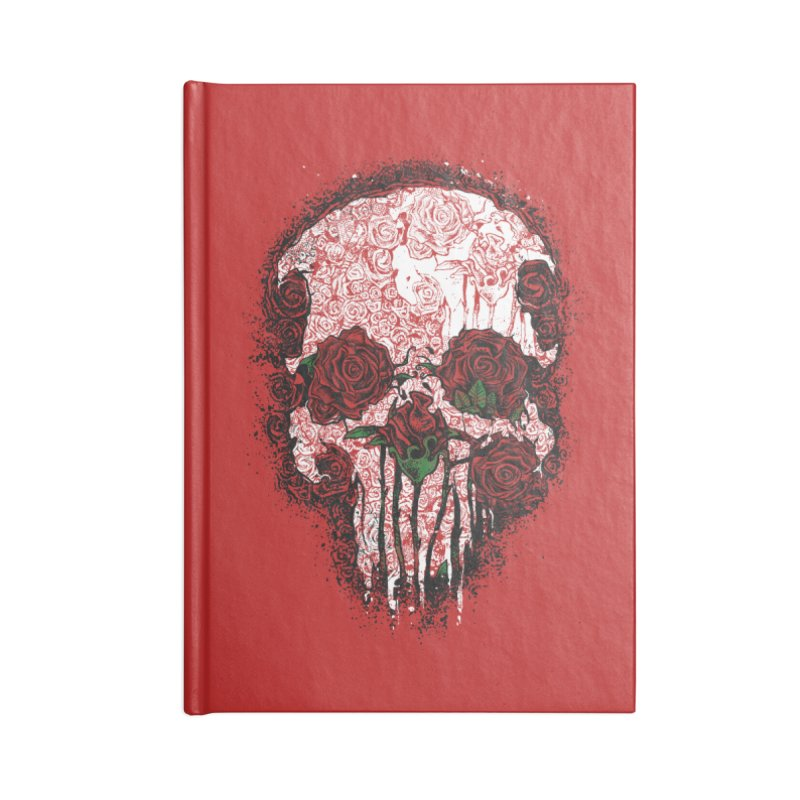 Skull Roses Accessories Notebook by Ricomambo