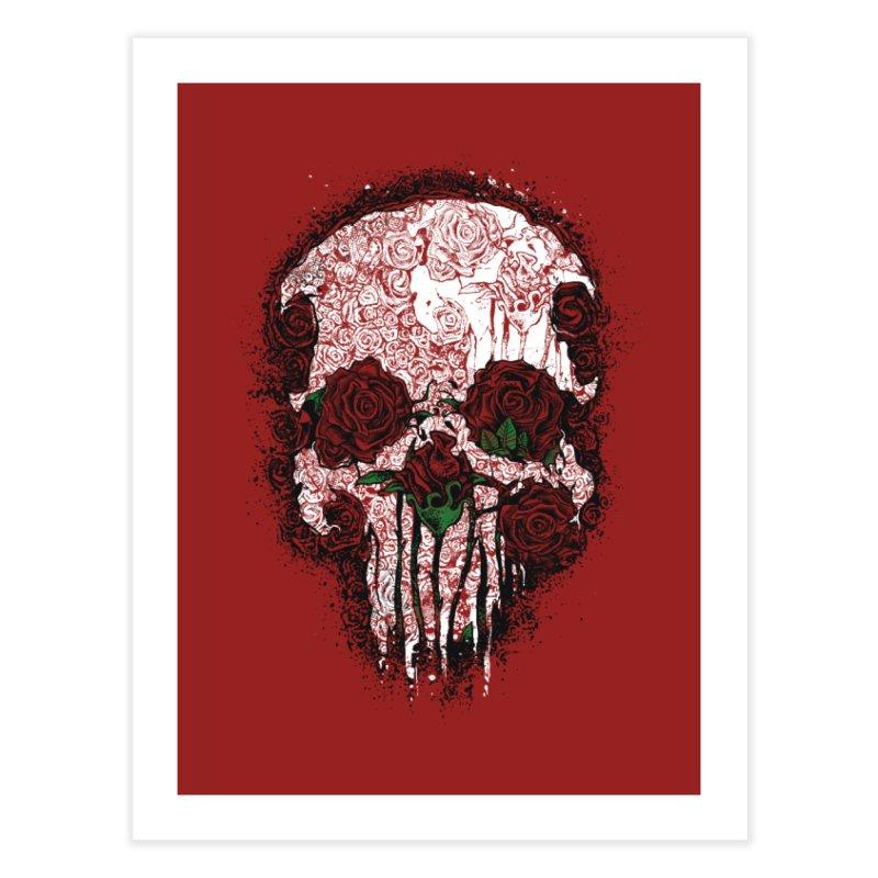 Skull Roses Home Fine Art Print by Ricomambo