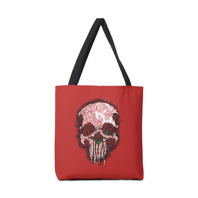 Skull Roses Accessories Bag by Ricomambo